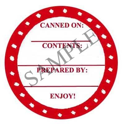 Splashes Round Canning Label #L235
