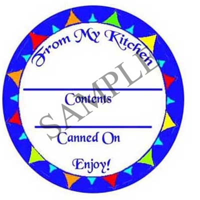 Blue Circle Round Canning Label #L240