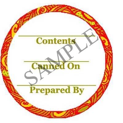 Orange Swirl Round Canning Label #L247