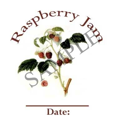 Raspberry Jam Round Canning Label #L260
