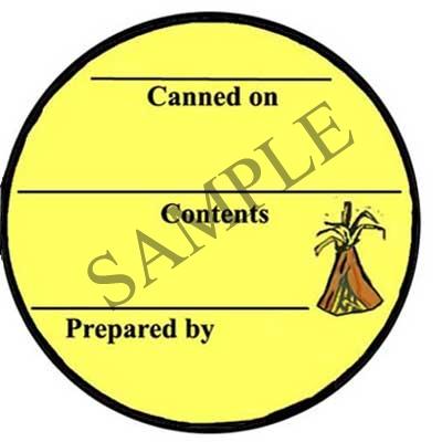Harvest Generic Round Canning Label #L262