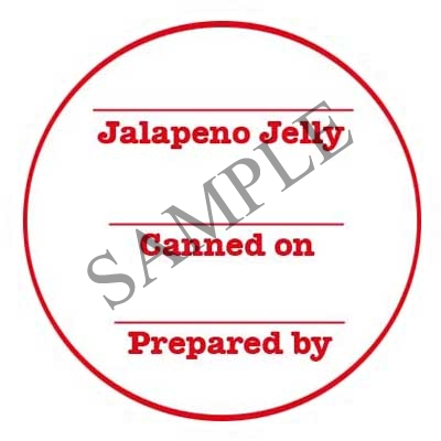 Blank Jalapeno Jelly Round Canning Label #L331