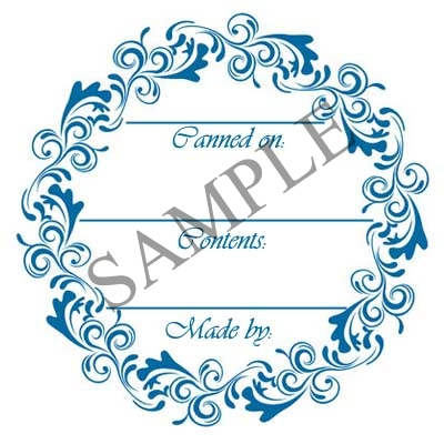 Blue Lace Generic Round Canning Label #L342