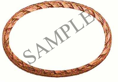 Braided Edge Blank Oval Canning Label #OV306B