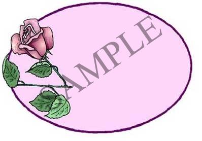 Rose Blank Oval Canning Label #OV314B