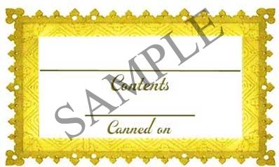 Golden Frame Border Rectangle Canning Label #RCT110
