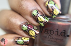 Vapid Lacquer - Smoke Screen leaf stamping