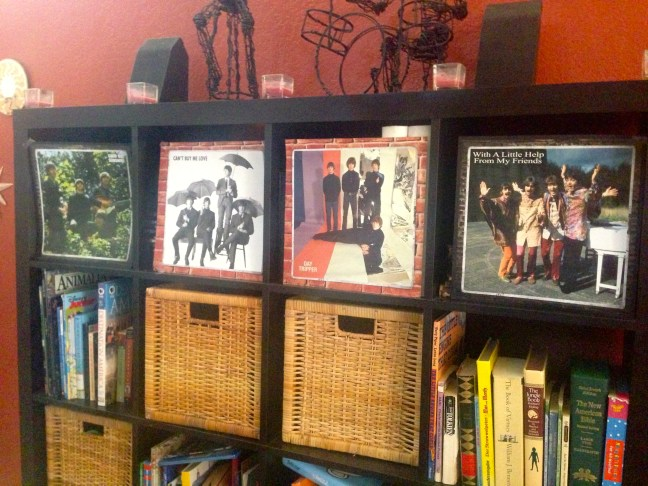 Beatles bookshelf