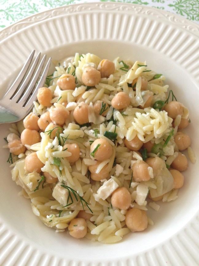 Orzo Chickpea Salad