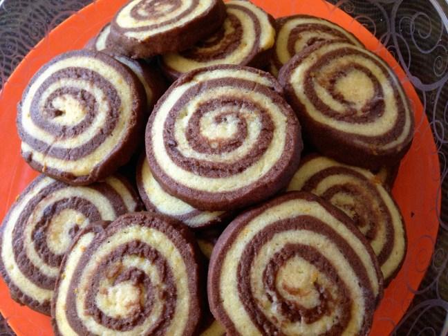 Chocolate Orange Pinwheel Cookies