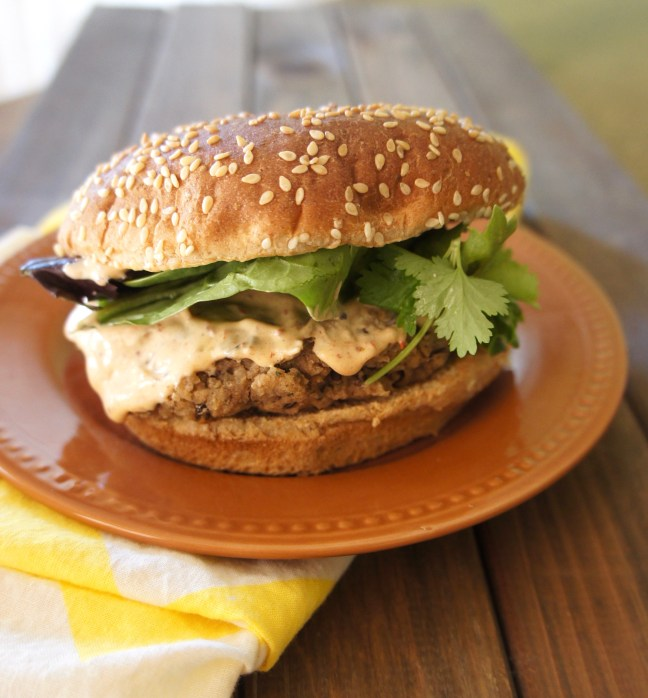 Bean Burgers with Chipotle Mayo