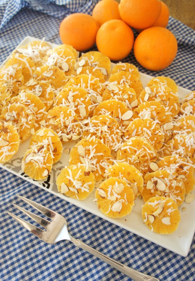 Orange Salad with Vanilla Syrup