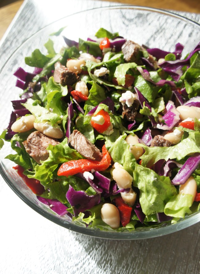 Steak chopped salad