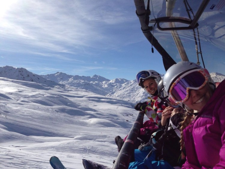 skiing a lovely planet
