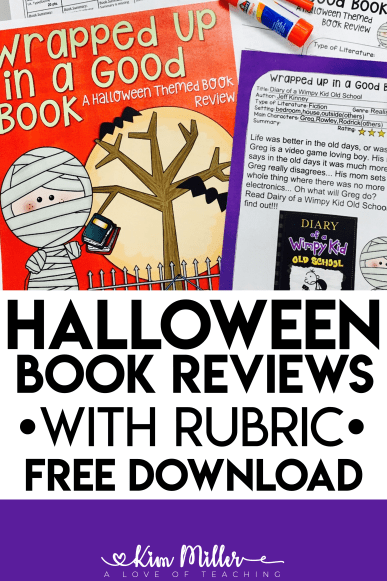 Halloween Book Reviews with Rubric Free Download
