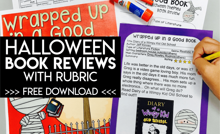Halloween Book Reviews with Rubric - Free Download