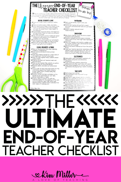 The Ultimate End-of-Year Teacher Checklist