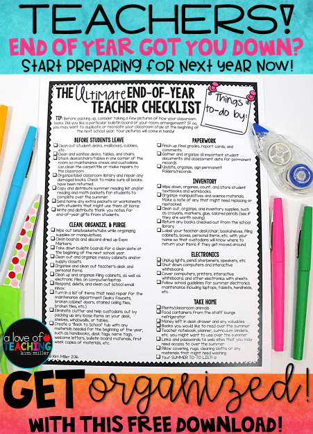 The Ultimate End of Year Teacher Checklist