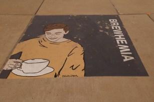Sidewalk art, these are on every corner