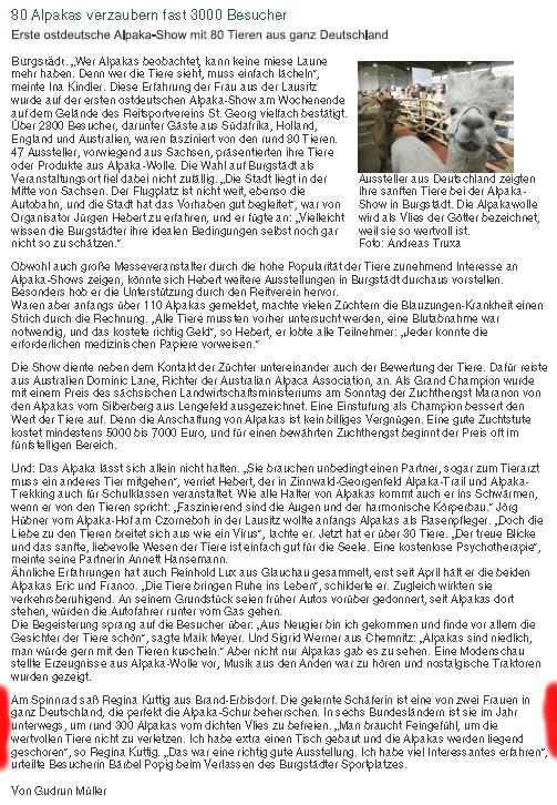 Freie Presse Burgstädt 2007