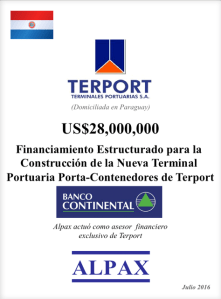 Financiamiento Estructurado de USD28 Milliones para la Construcción de la Nueva Terminal Portuaria Porta-Contenedores de Terport