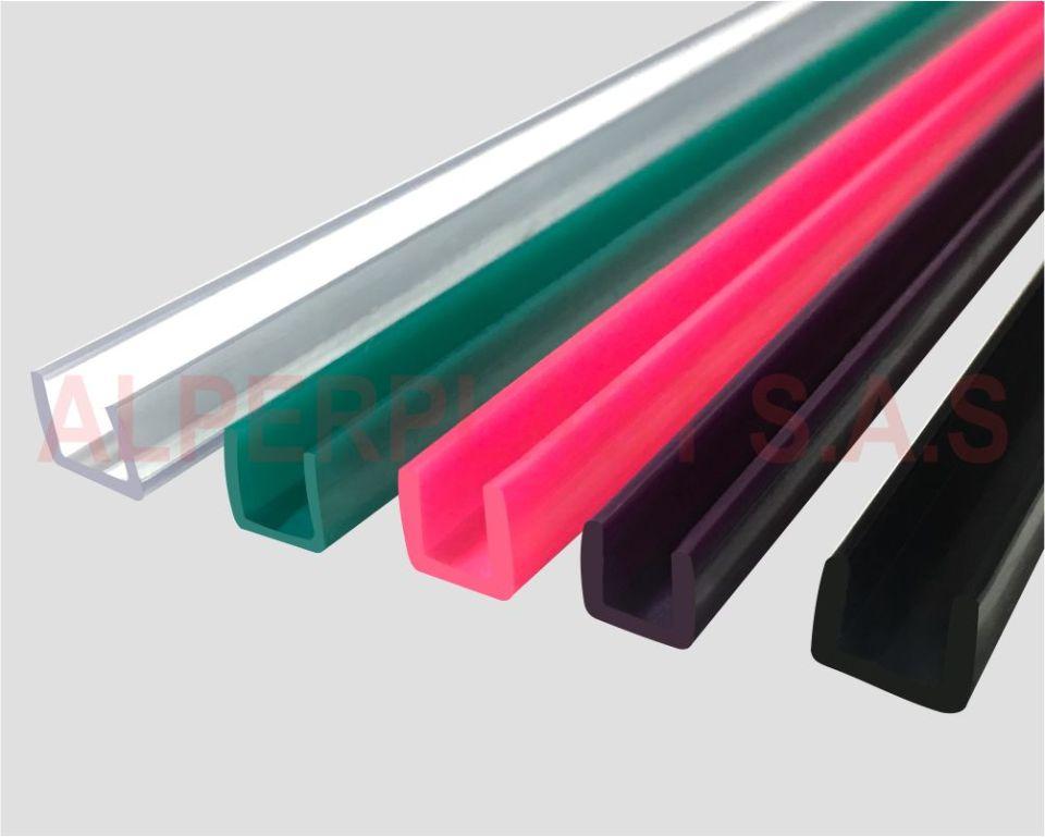 Perfil en U para vidrio de 4_ 5 y 6mm