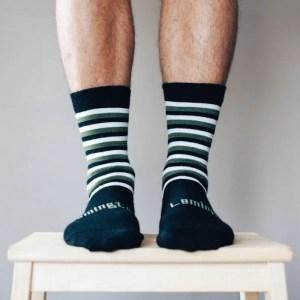 chaussettes en laine homme vertes