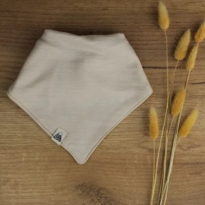 bavoir foulard beige bébé merinos 2021