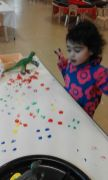 Mark-making on dinosaurs project