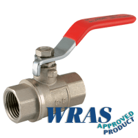 Pro-Fit Red Ball Valve | Lever Handle | Brass