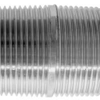 3/8 BSPT Pipe Close Taper Nipple X 25mm 316SS