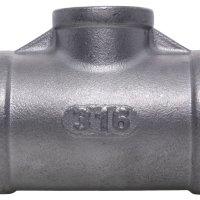 1-1/4 X 1 BSPP F/F/F Reducing Tee 150Lb 316SS