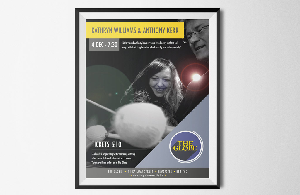 The Globe gig poster - Kathryn Williams