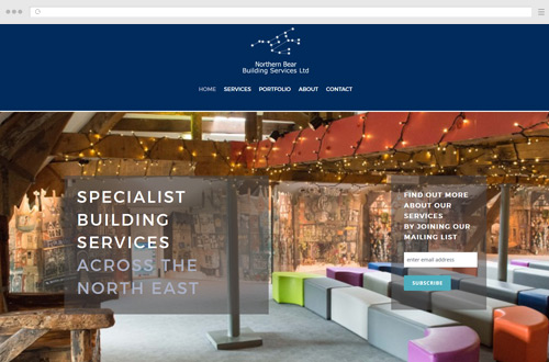 Northern Bear Building Services Website