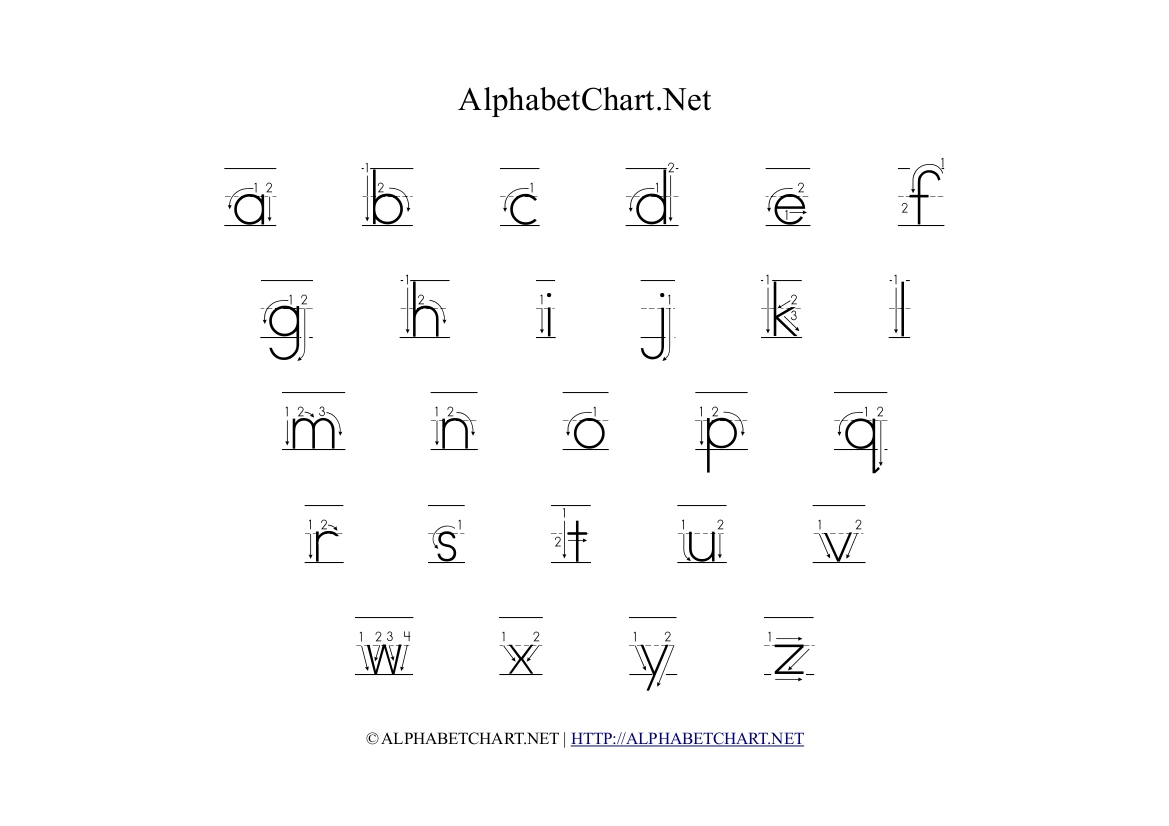 Alphabet Chart Printables For Children Download Free A4