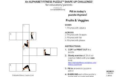 M & EM Fitness Puzzles sample