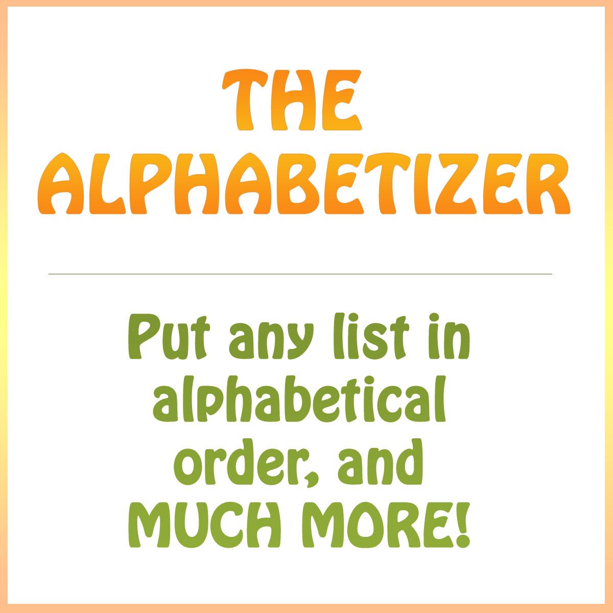 Works Cited Alphabetical Order Generator