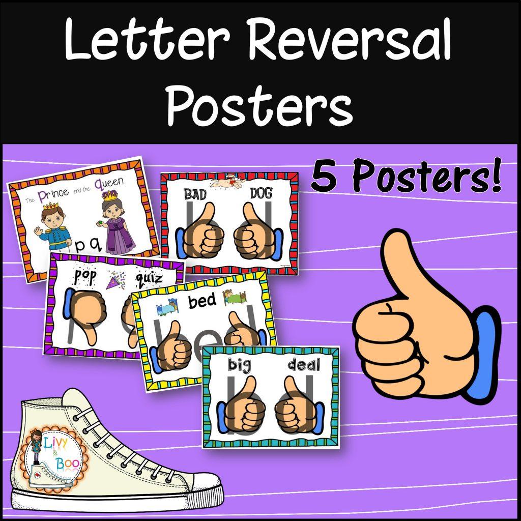 Letter Reversal Poster Pack