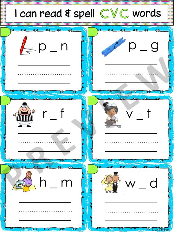 I Can Read & Spell CVC Words - 120 Phonics Sounding Cards ...