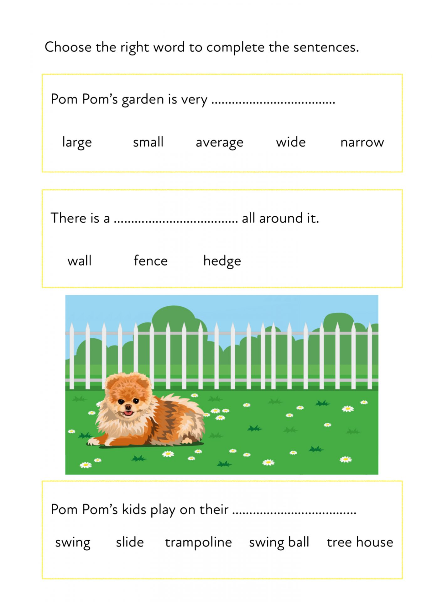 Pom Pom Stays Alert In The Garden A Fun Writing And