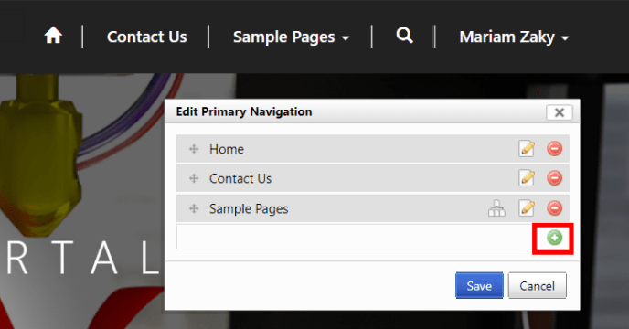 Add the Cases link in the primary navigation