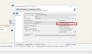 Dynamics CRM SSIS Ignore Unchanged Fields Option