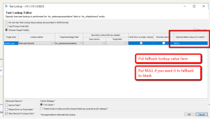 Dynamics CRM SSIS Test Lookup Editor