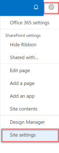 sharepoint content type setting