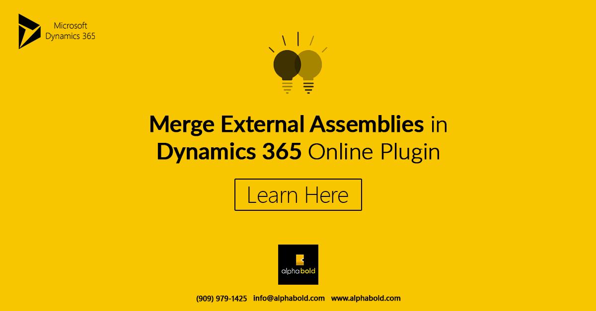 Merge External Assemblies in Dynamics 365 Plugins