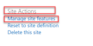 manage site features