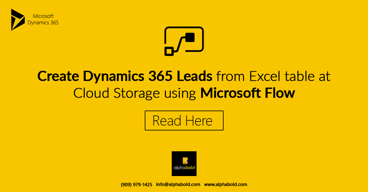dynamics 365 lead with microsoft flow