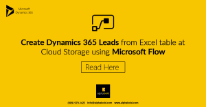 dynamics 365 lead with microsoft flow