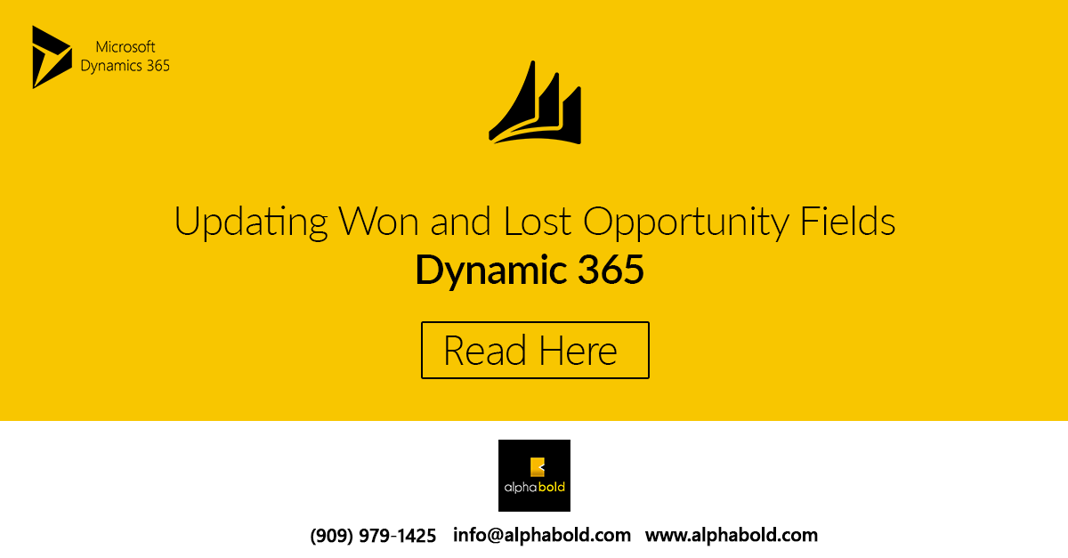 dynamics 365 lost and win opportunity
