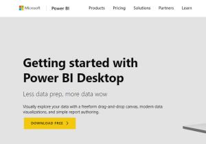 Power BI Desktop version for free trial